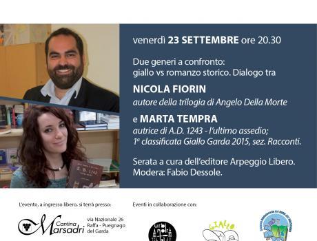 Festival Giallo Garda - Nicola Fiorin e Marta Tempra due generi a confronto: giallo e romanzo storico