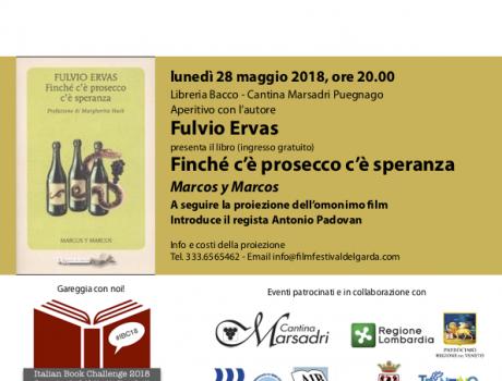 """Fulvio Ervas presenta """"Finchè c'è prosecco c'è speranza"""""""